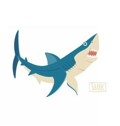 Shark cartoon vector image vector image