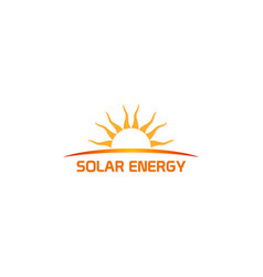 solar energy nature company logo vector image