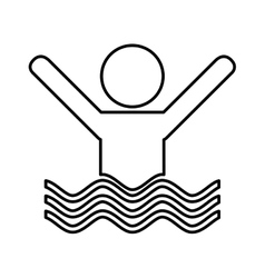 Swiming person isolated icon vector