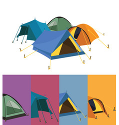 tent collection vector image vector image