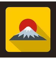 The sacred mountain of fuji japan icon flat style vector