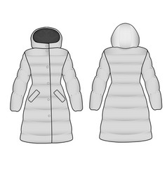 the sketch womens snow jacket vector image vector image