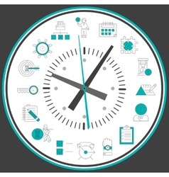 Time management clock vector image vector image