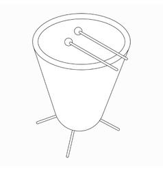 Timpani drum icon isometric 3d style vector