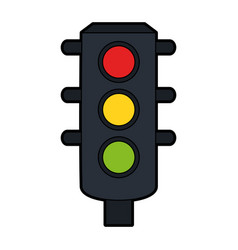 traffic light icon image vector image