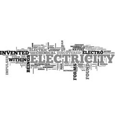 Who was it that invented electricity text word vector