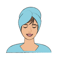 woman face in spa vector image