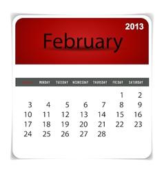 2013 calendar February vector image