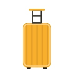 Travel suitcase icon flat style on wheels vector