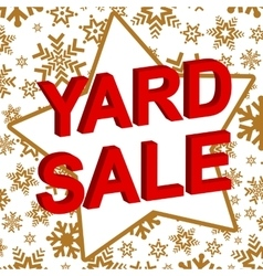 Winter sale poster with yard sale text vector