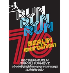 Berlin marathon run poster vector