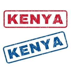 Kenya rubber stamps vector