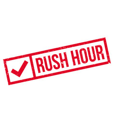 rush hour rubber stamp vector image