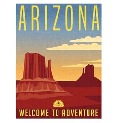 arizona travel poster vector image