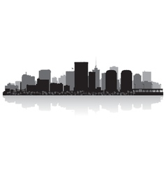 Richmond usa city skyline silhouette vector