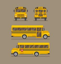 School bus flat vector