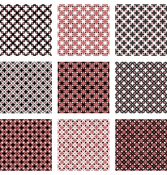 Set of design seamless colorful diagonal patterns vector