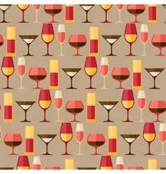 Restaurant or bar seamless pattern with different vector