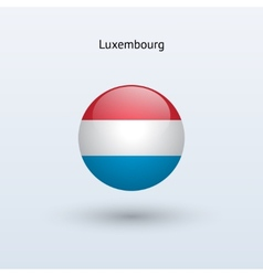 Luxembourg round flag vector