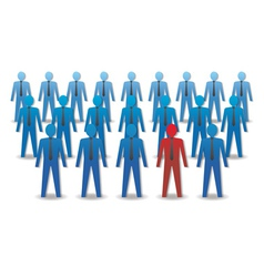 Unusual person in the crowd leadership vector