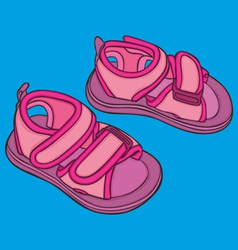 kid summer shoes vector image