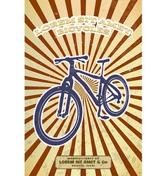 Vintage bicycle poster vector image