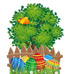 Easter natural scene vector