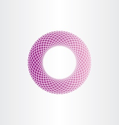 Abstract geometric purple circle halftone vector