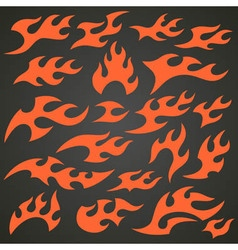 Flame and fire icons vector