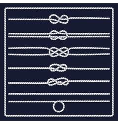 Marine rope knot vector