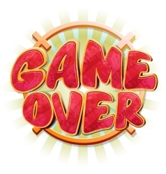 Game over message in cartoon style vector