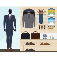 Man clothing store vector