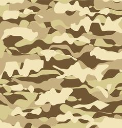 Military beige desert fashion seamless pattern vector image