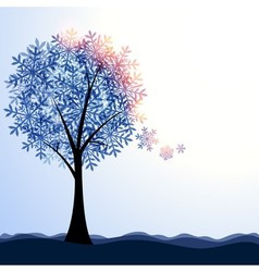 Artistic winter landscape vector image