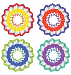 Abstract paper flower vector