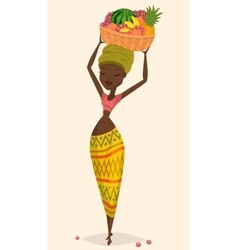 African woman farmer vector