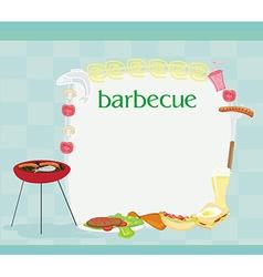 Barbecue Party Invitation vector image vector image