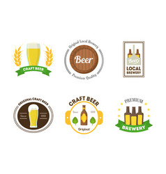 Beer badges or labels set vector