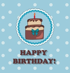 Birthday design over blue background vector