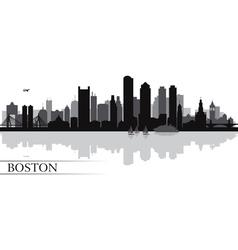 Boston city skyline silhouette background vector