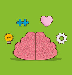 Brain icon image vector