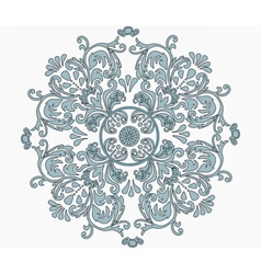 Classic style circular ornament isolated vector image