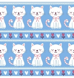 Cute of seamless with cats vector image vector image
