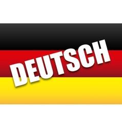 deutsch design vector image