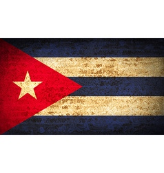 Flags cuba with dirty paper texture vector