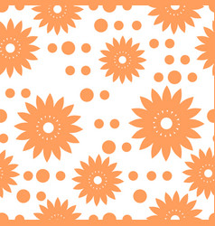 Flower pattern seamless vector