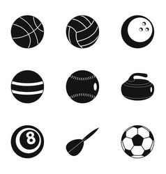 game equipment icons set simple style vector image