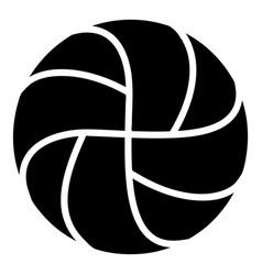 handball icon simple black style vector image vector image