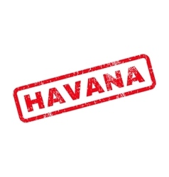 Havana text rubber stamp vector