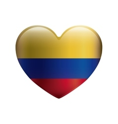 Heart with colors colombian flag vector